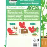 opis persuna domaci liscar i ilustracija instrukcija za sadnju sa slonicem na zadnjoj strani kesice
