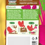 opis organske cvekle detroit i ilustracija instrukcija za sadnju sa slonicem na zadnjoj strani kesice