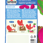 opis cvekle detroit i ilustracija instrukcija za sadnju sa slonicem na zadnjoj strani kesice