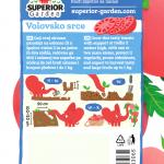 opis paradajza volovsko srce i ilustracija instrukcija za sadnju sa slonicem na zadnjoj strani kesice