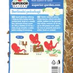 opis persuna berlinski poludugi i ilustracija instrukcija za sadnju sa slonicem na zadnjoj strani kesice