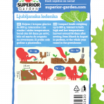 opis salate ljubljanska ledenka i ilustracija instrukcija za sadnju sa slonicem na zadnjoj strani kesice